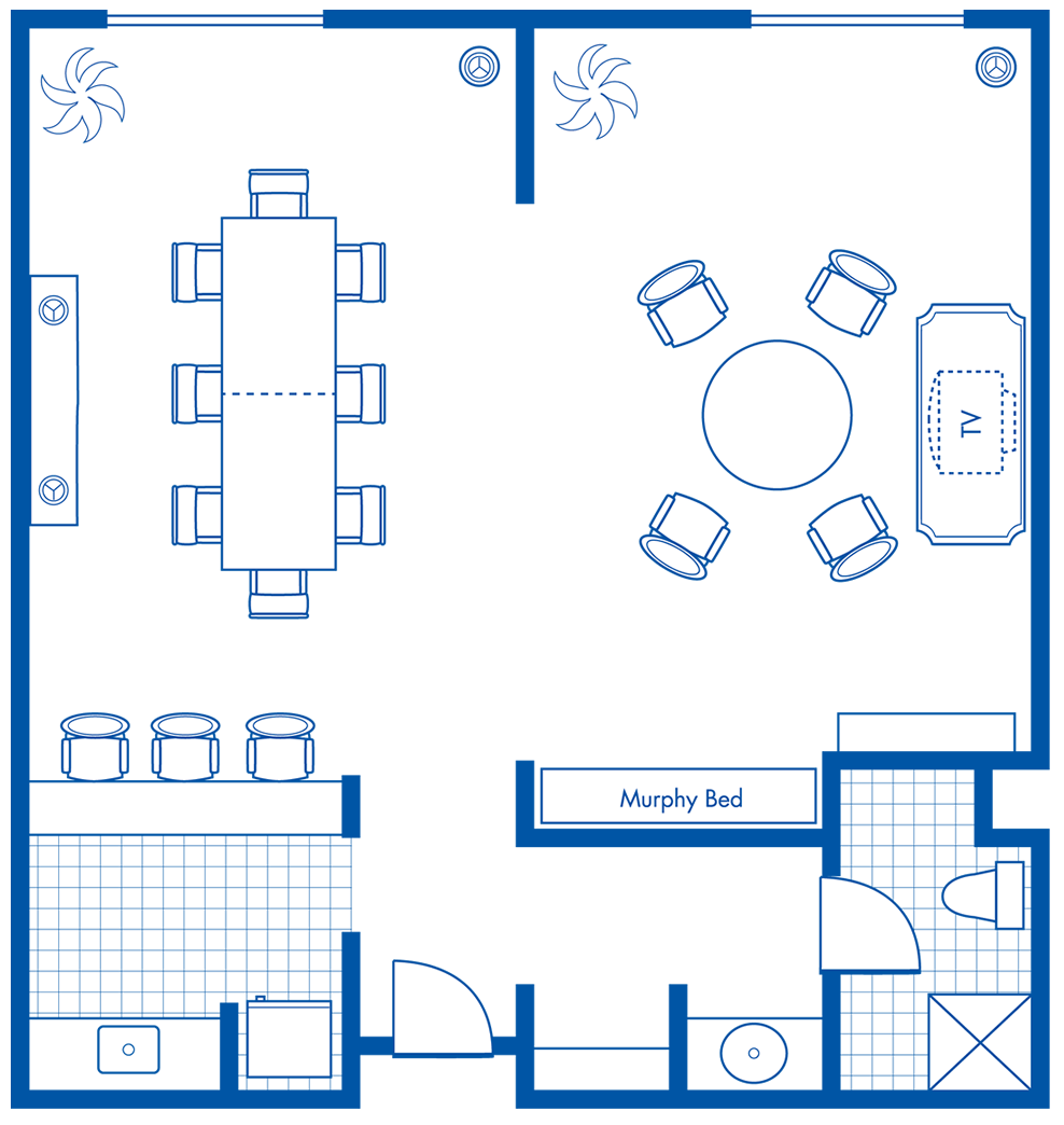 Hospitality Suite Floorplan