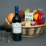 Fruit, Cheese and Wine Basket