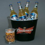 Beer Bucket and Logo Jar with Nuts