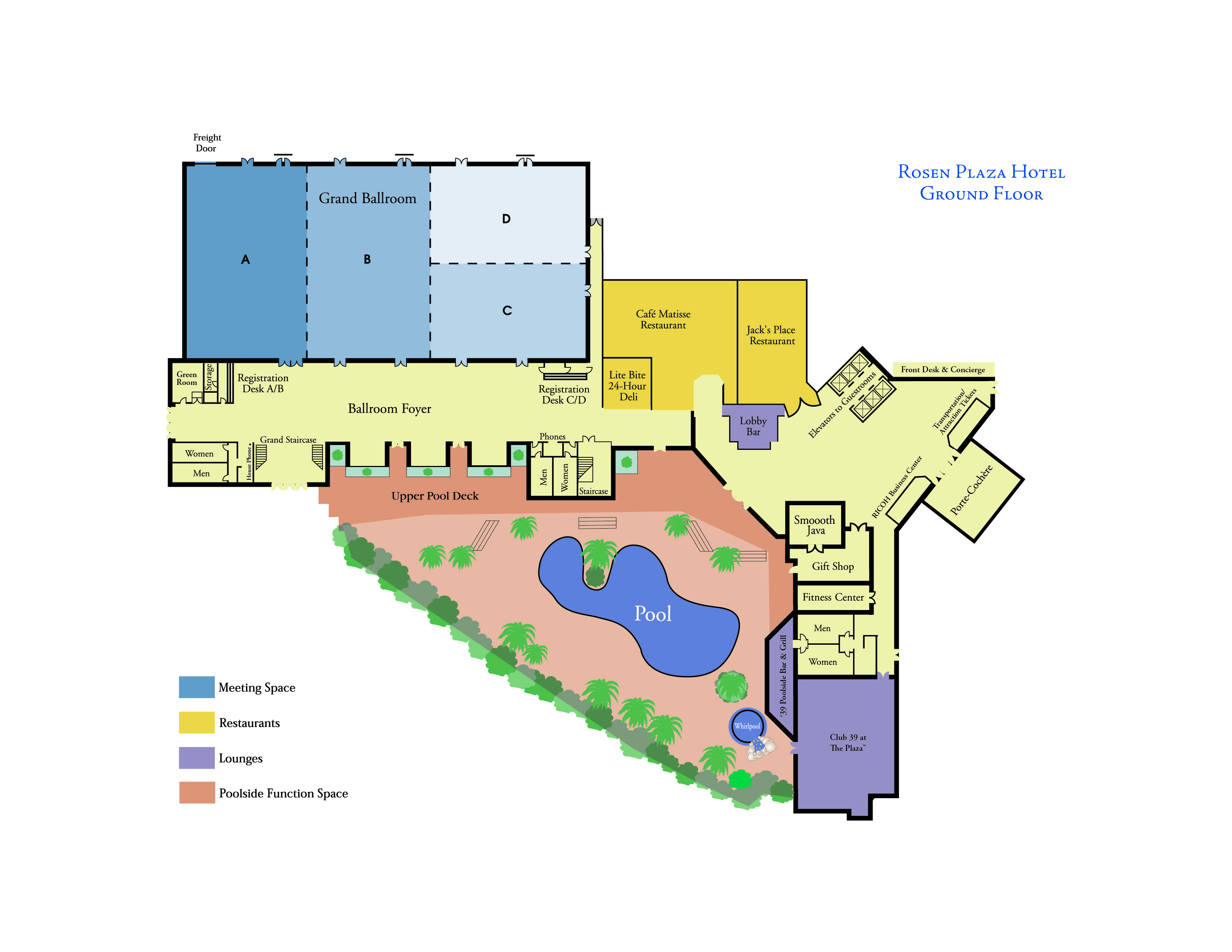 Orlando Meeting and Convention Hotel | Capacities and Floorplans ...