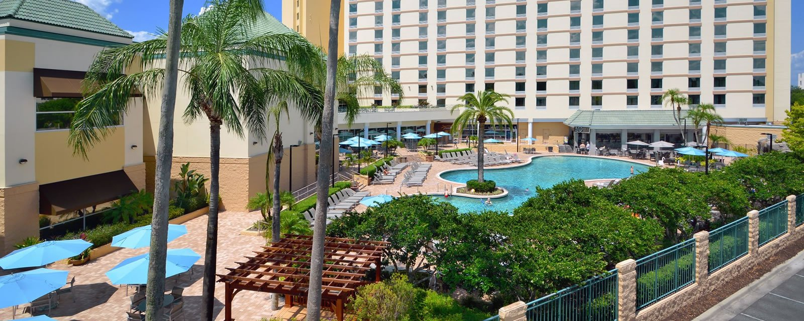 Pool with Rosen Plaza® Building Behind